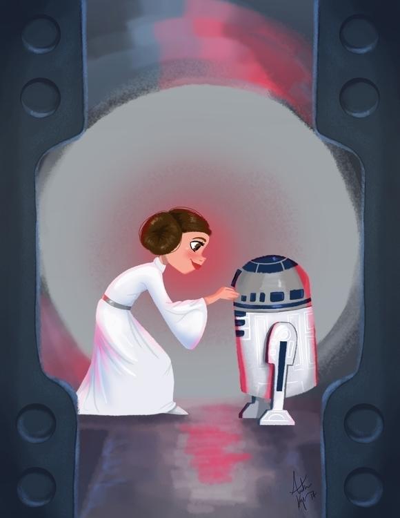 Force - starwars, Leia, R2D2 - amberkrueger | ello