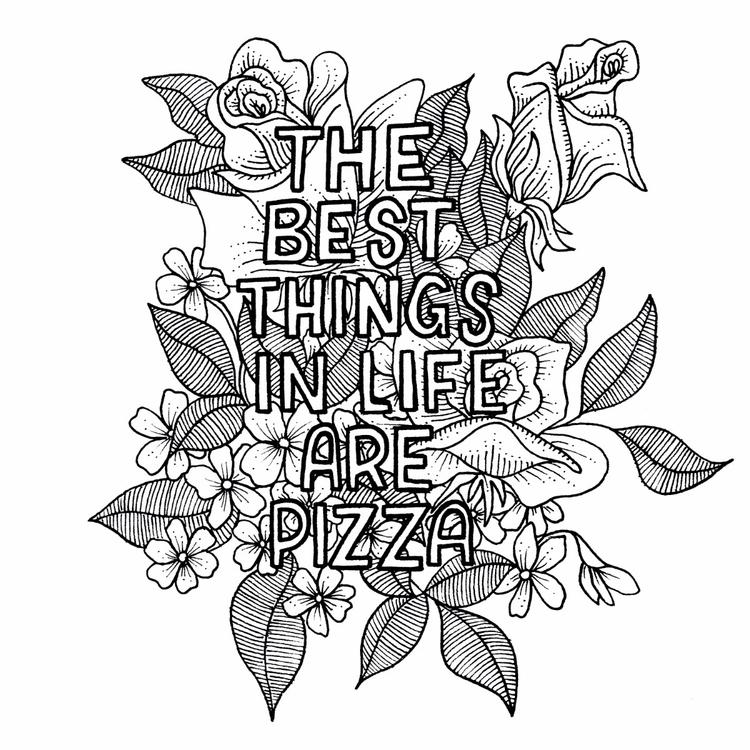 Pizza water - pizza, illustration - liztim   ello