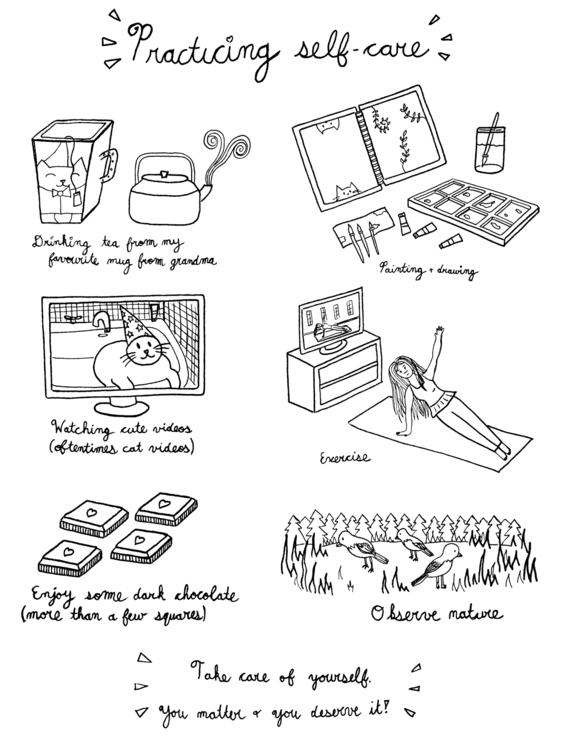Practicing | illustration menta - carolinewillustration | ello