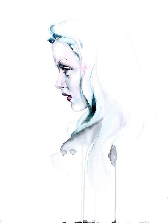 Smoke Watercolor paper - painting - defectivebarbie | ello
