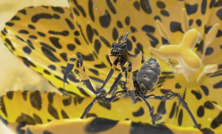 Devil Flower Mantis (ZBrush, Ke - joshpurple | ello