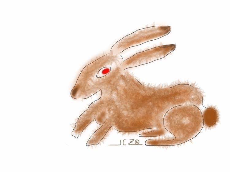 'Rabbit' Quick sketch produced  - iquitoz | ello