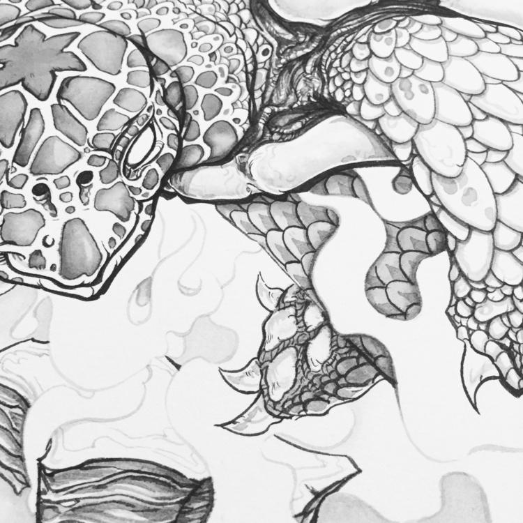 Cosmic turtle - wip, creation, mythology - gede | ello