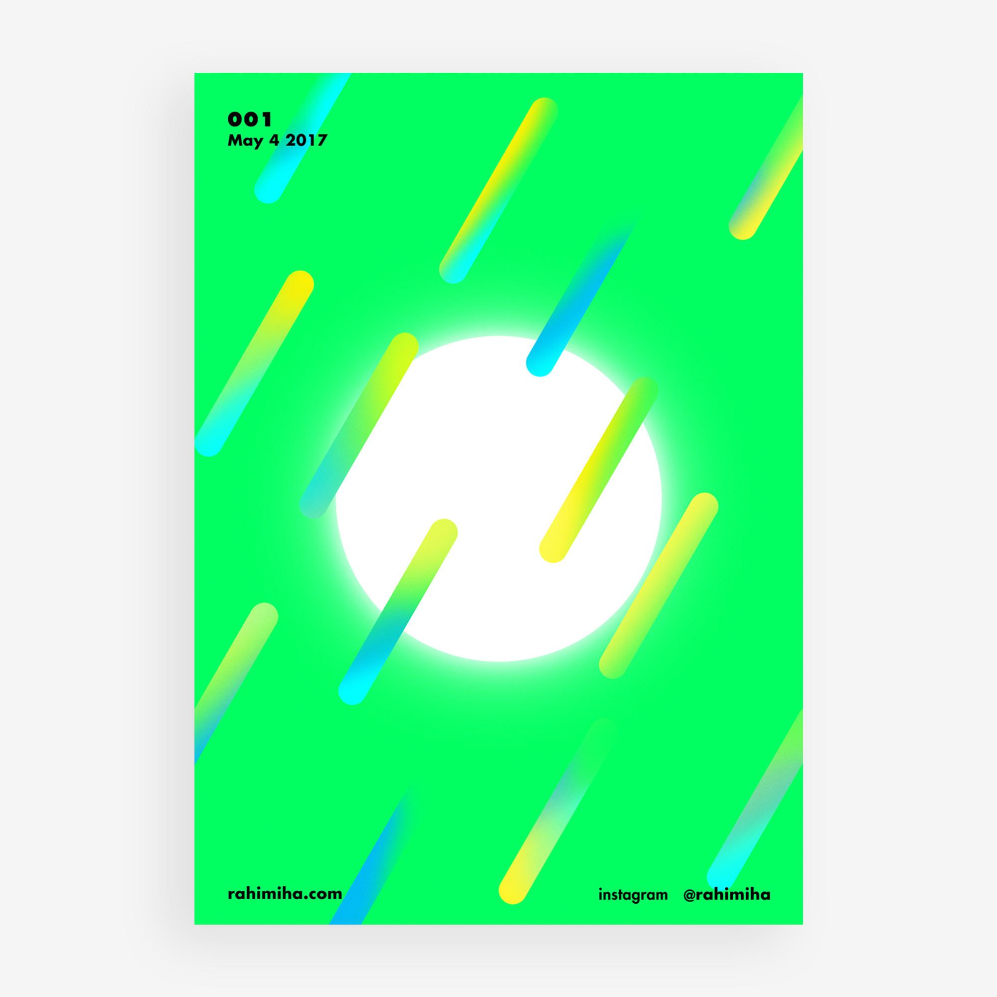 Day 001 Nima Rahimiha poster da - rahimiha | ello