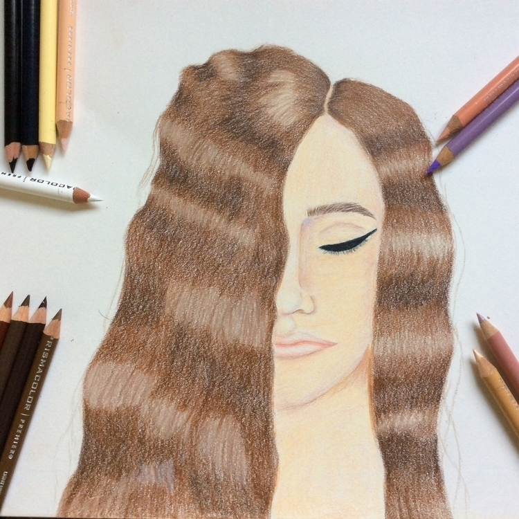 Elise - coloredpencil, chill, shading - mercurys-mistress | ello