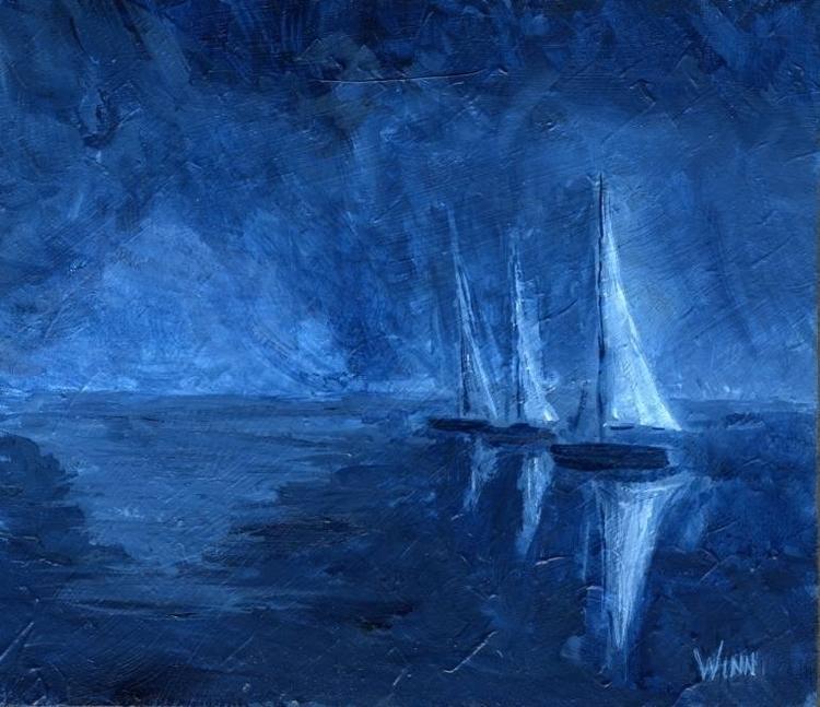 Titled: Midnight Sail Learning  - brettwinn | ello
