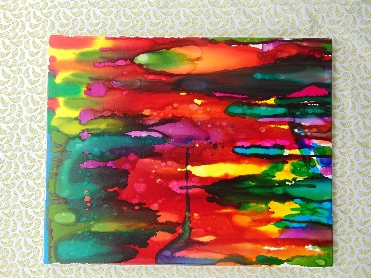 Alcohol inks canvas. 16x20   16 - wackyworldcreations | ello