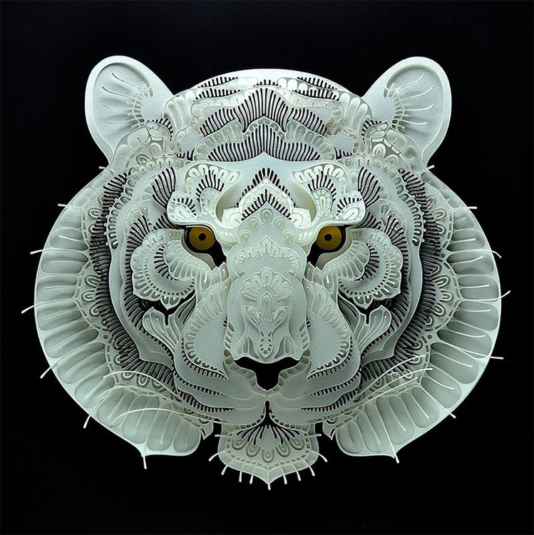 Papercut Art Endangered Animals - diogovarelasilva | ello