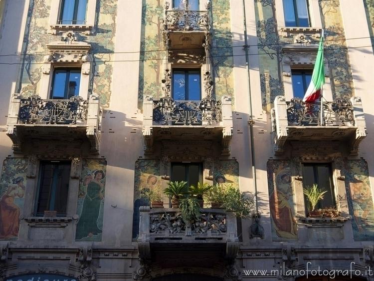 Milan (Italy): Art Noveau decor - milanofotografo | ello