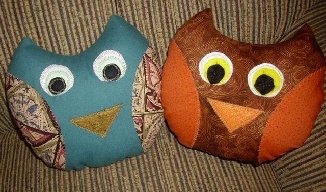 owls. fabric scraps polyfil - gjanney   ello