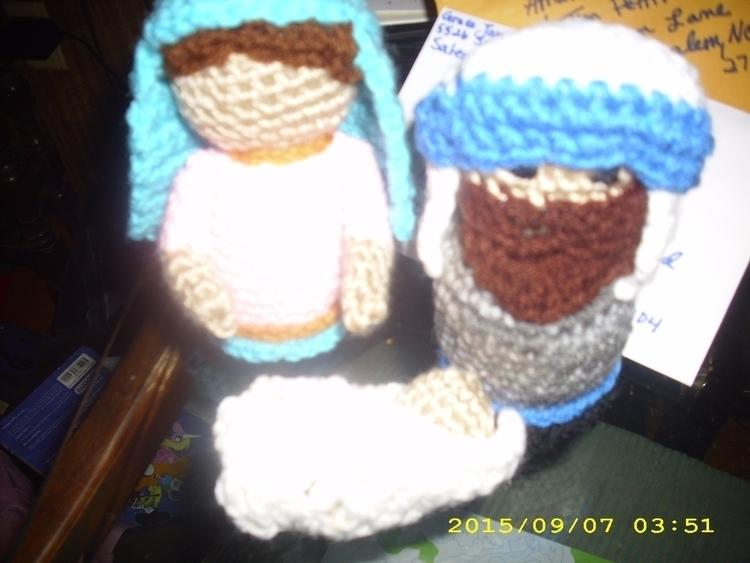 hand crocheted manger scene - gjanney | ello