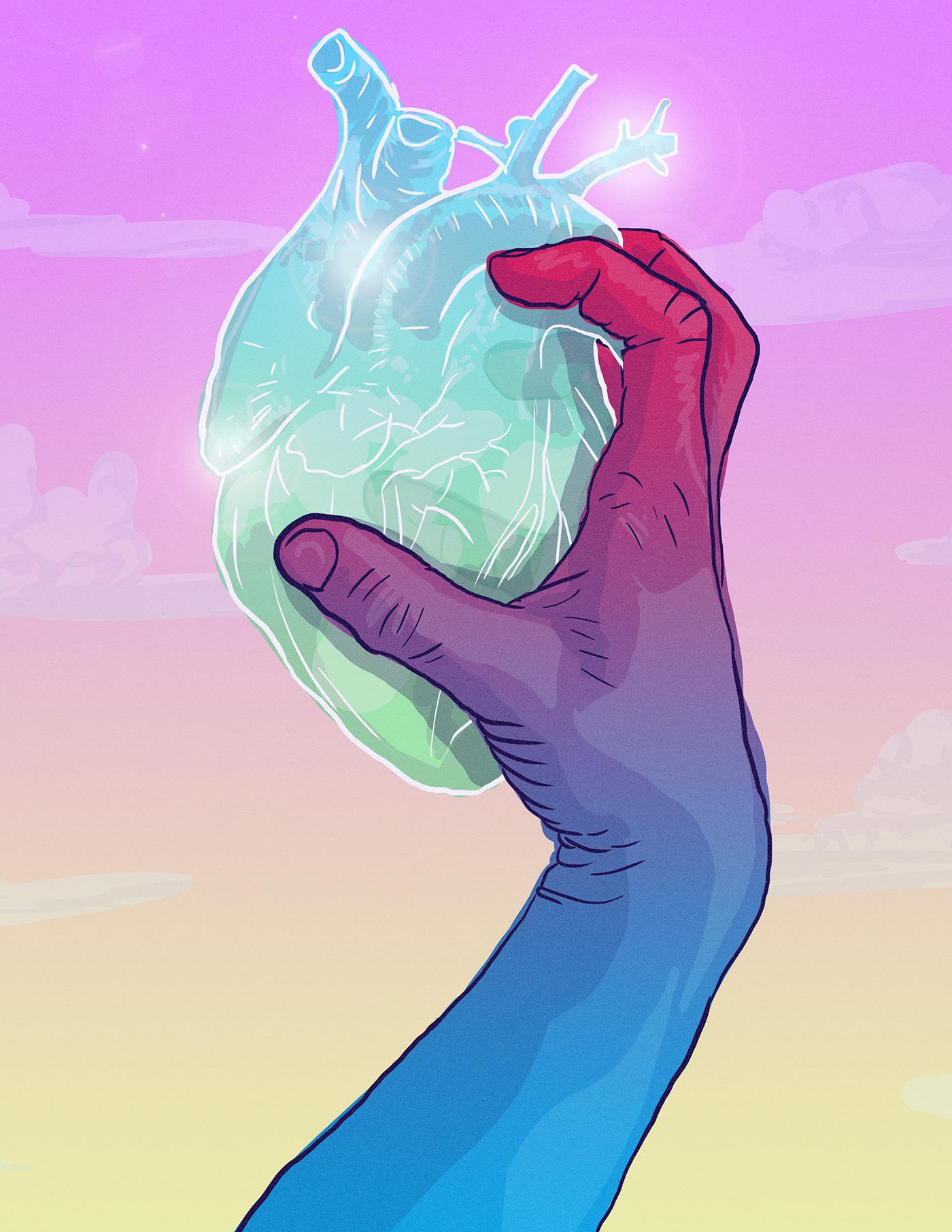 crystal heart - digital, illustration - kardozin | ello