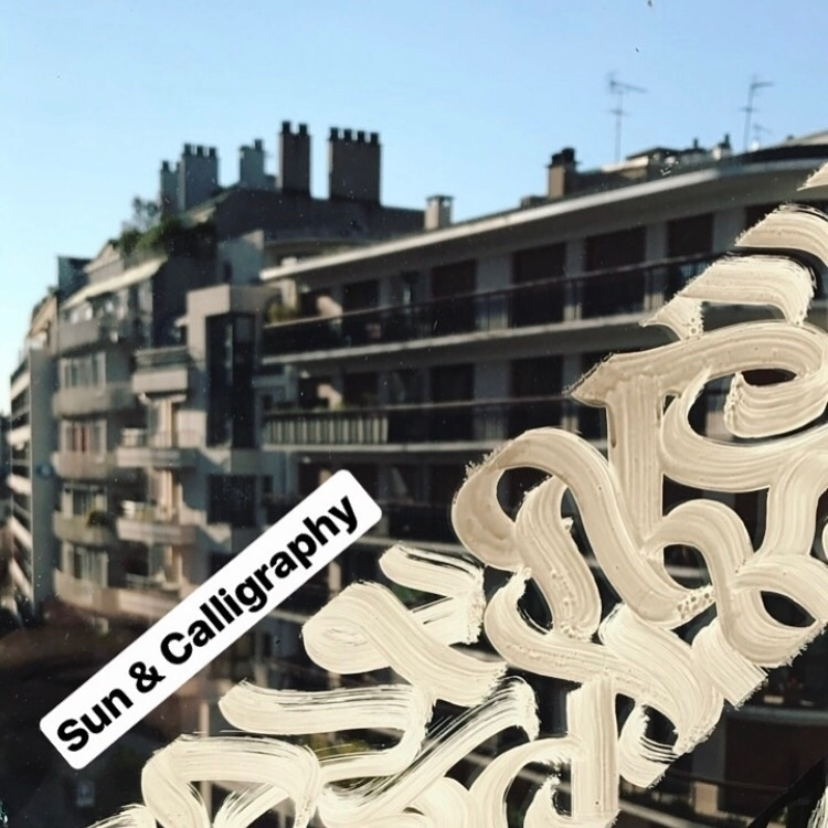 Sun Calligraphy Hand brush glas - darksnooopy | ello
