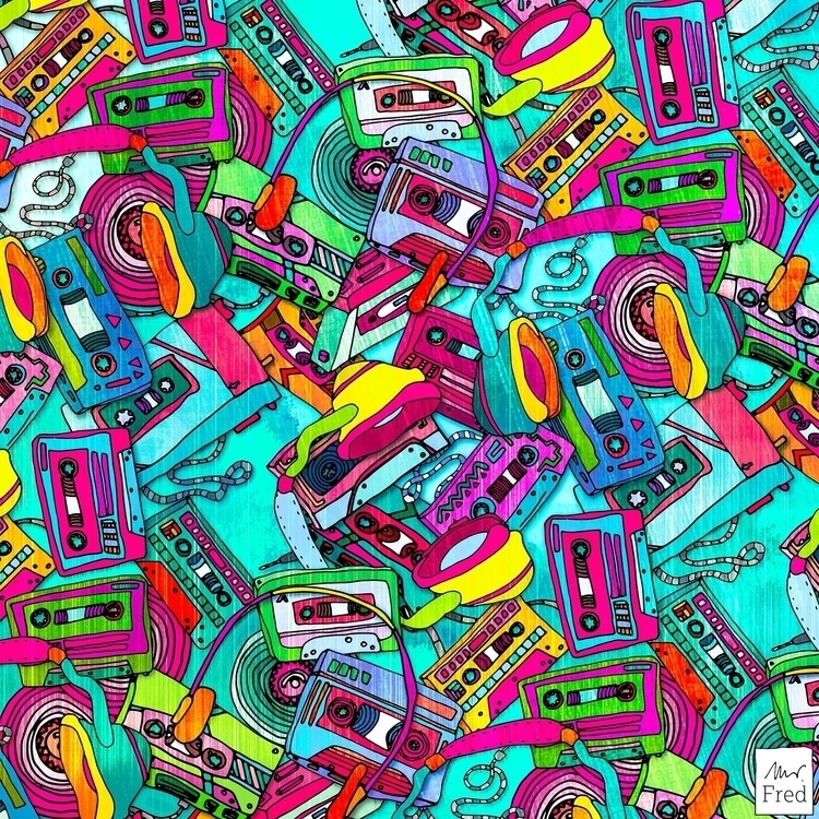 musicpattern, illustration, surfacedesign - mister_fred_berlin | ello