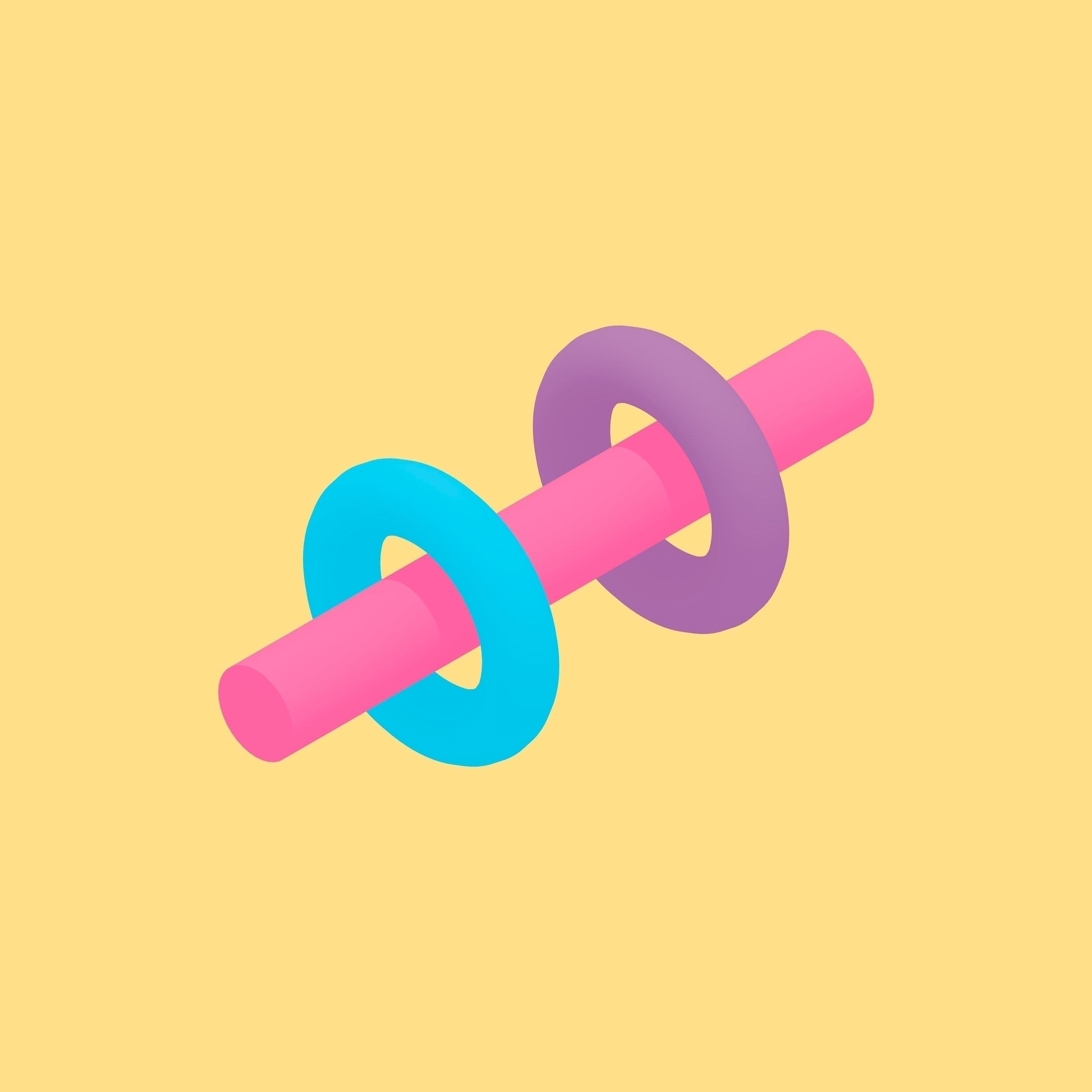 COLORS test minimalistic 3D - Minimalism - itstinyghost | ello