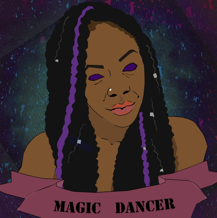 BlackWoman, Magic, Dancer, PurpleEyes - blueanath | ello