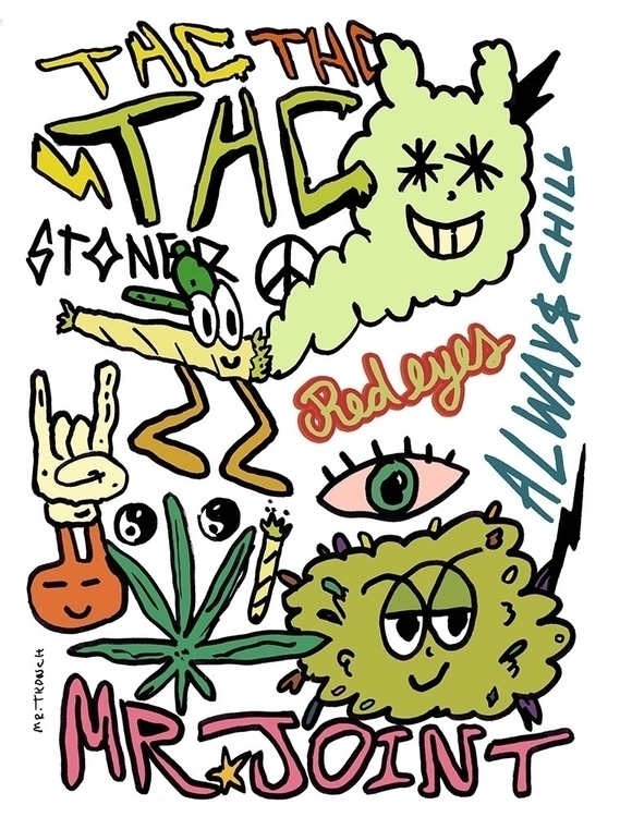 Joint Tronch - weed, cannabis, illustration - mrtronch | ello
