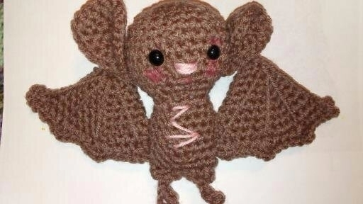crocheted brown bat - gjanney | ello