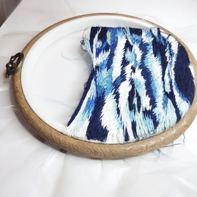 fiberart, textileart, embroidery - fullmetalneedle | ello