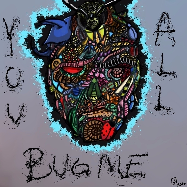 buggin - ello, elloart, art, illustration - senjo_zedd | ello