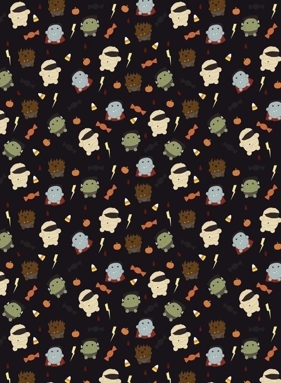 monster themed pattern designed - svaeth | ello