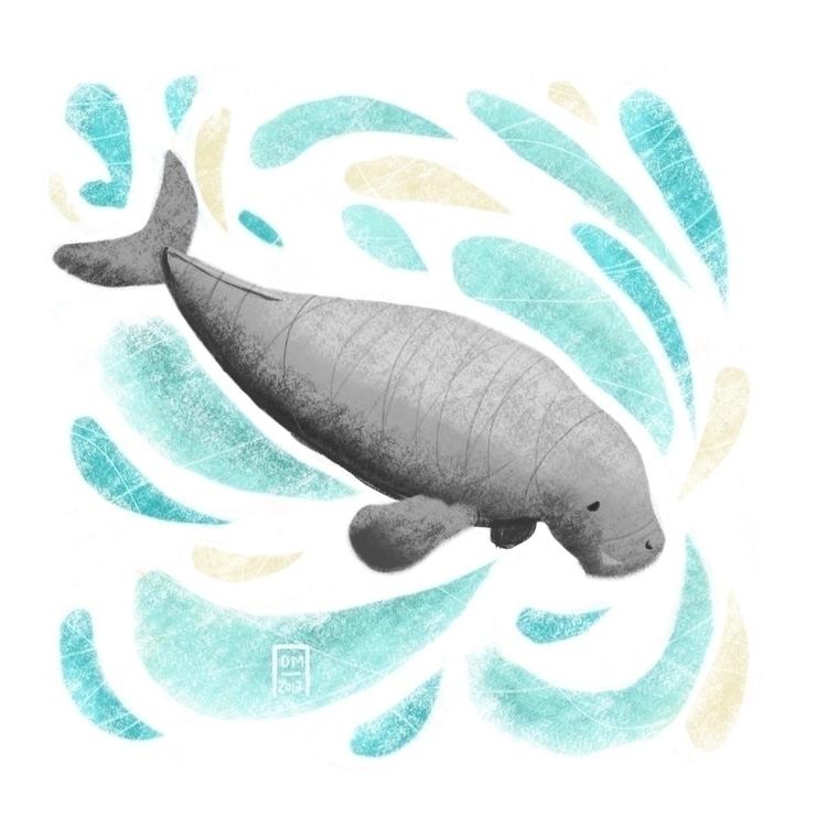 dugong - illustration - doodlesmarc | ello