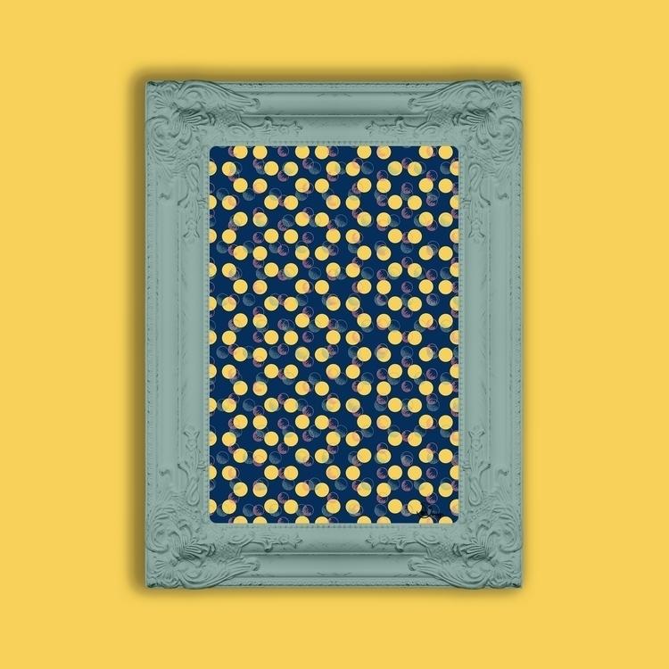 Yellow Polka Dots Scribbles - pattern - designdn | ello