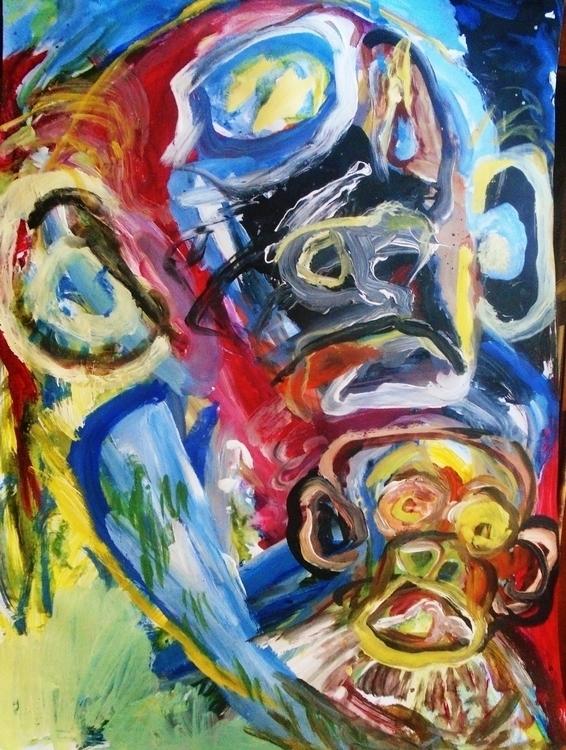Humanoid baby - painting, art, expressionism - giannisrallis   ello