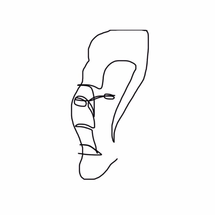 oneline, minimal, drawing, doodle - k_ng_ | ello