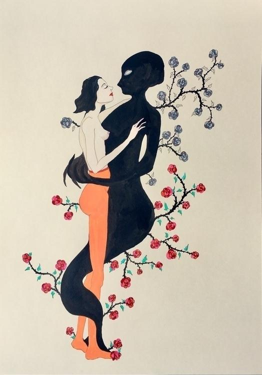 Shadow Illusions - kunst, drawing - lorettamae | ello
