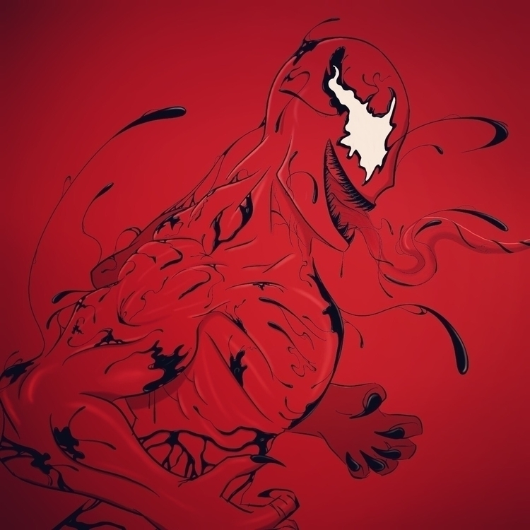 carnage, procreate, marvelcomics - capitanpencil | ello