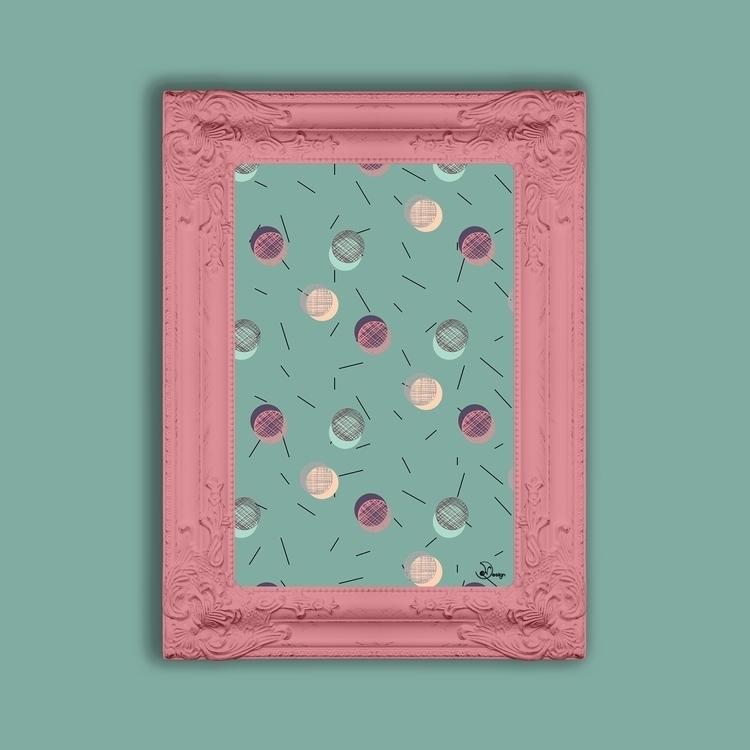 Scrawled Polka Dots Sticks - pattern - designdn | ello