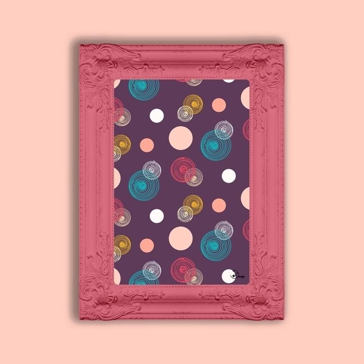 Colorful Scrawled Polka Dots - pattern - designdn | ello