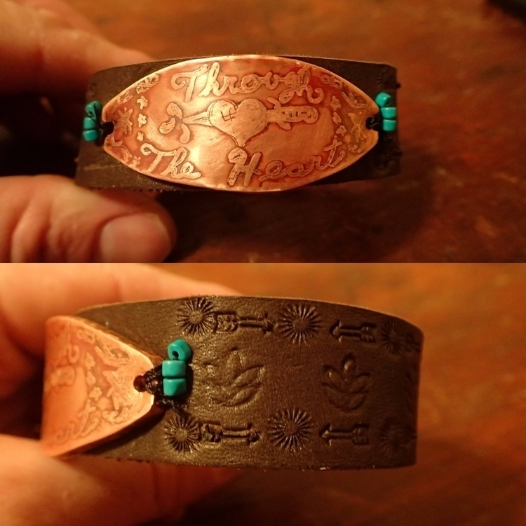bracelet, leather, turquoise - shawn_from_tx | ello