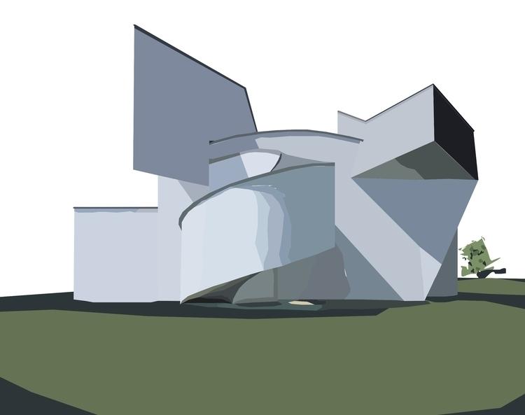 Vitra Design Museum Frank Gehry - sophieillustration | ello