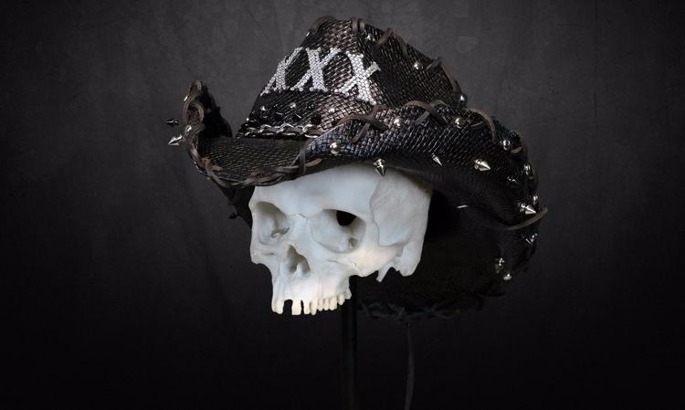 SWAROVSKI COVERED XXX Bonehead  - boneheadwear | ello