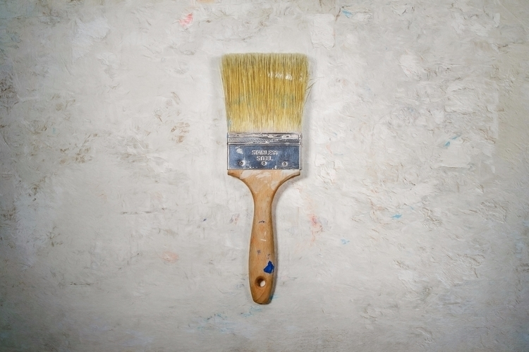 worn paint brush white painted  - scottnorrisphotography | ello