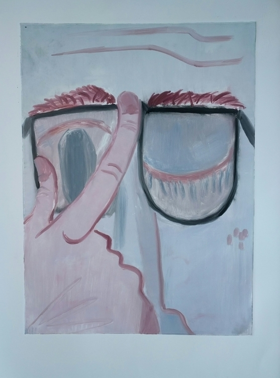 Glasses, monoprint Prints Summe - markbarry | ello