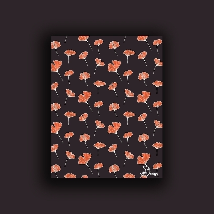 Ginkgo Biloba Leaves Pattern Da - designdn | ello