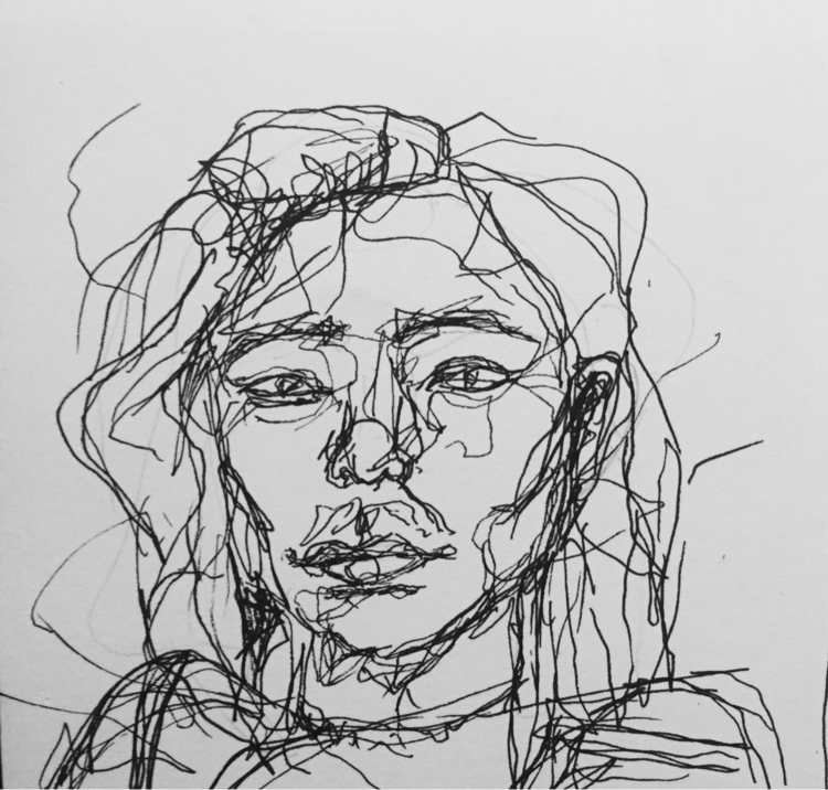 Auto-portrait - selfportrait, line - nellie380 | ello