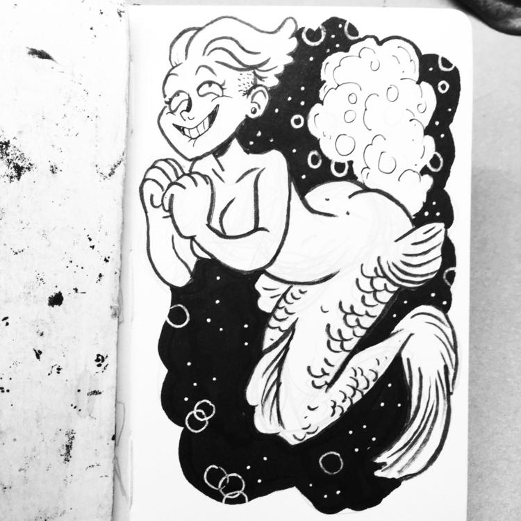 hear sea calling - mermay, mermaid - royallyeric | ello