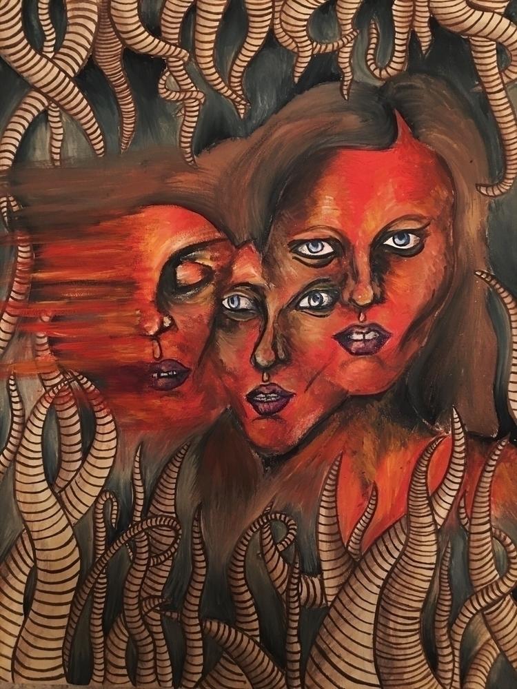 underskin series - illustration - paulinemonet | ello