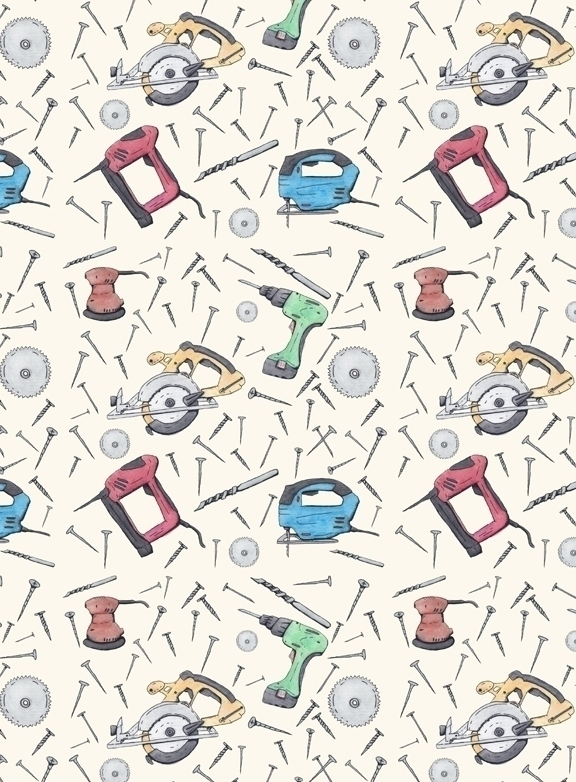 power tool themed pattern creat - svaeth | ello