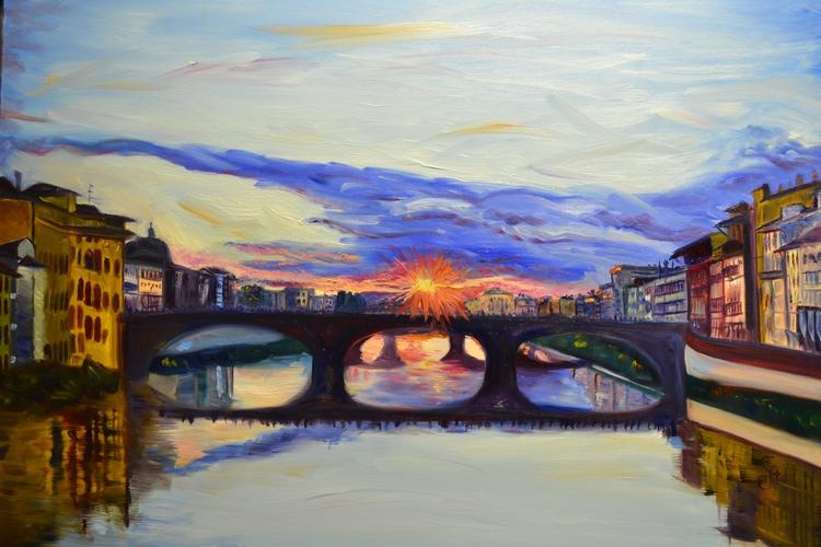 View Ponte Vecchio Oil Canvas 4 - ivy_artistic_chaos | ello