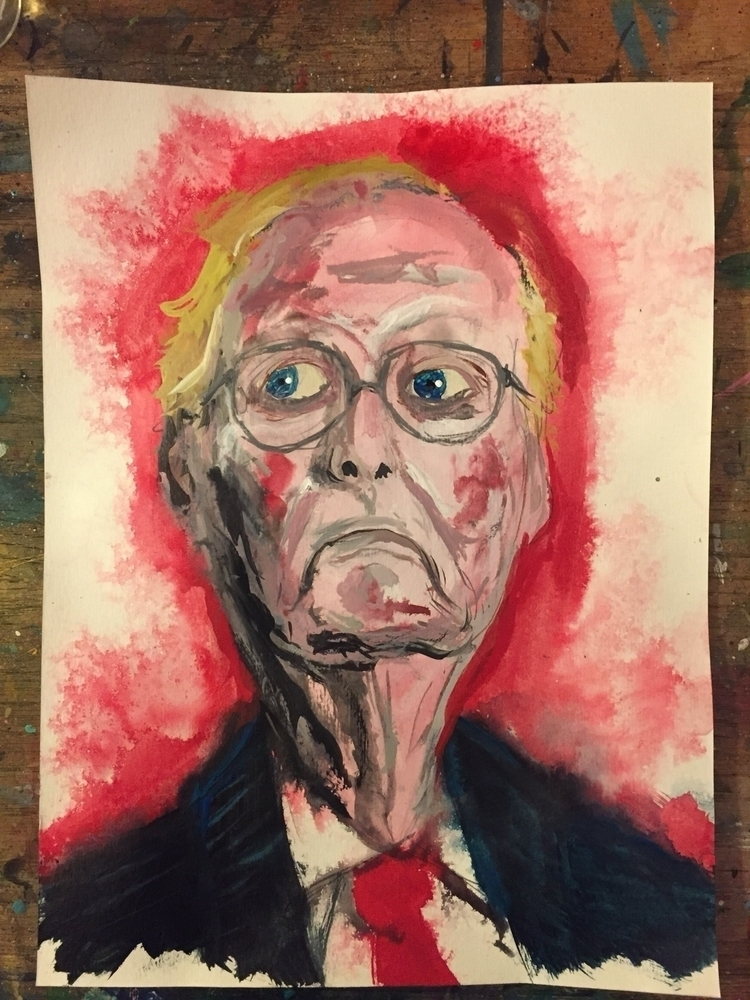 mitchmcconnell, portrait, greed - nathanawoodart | ello