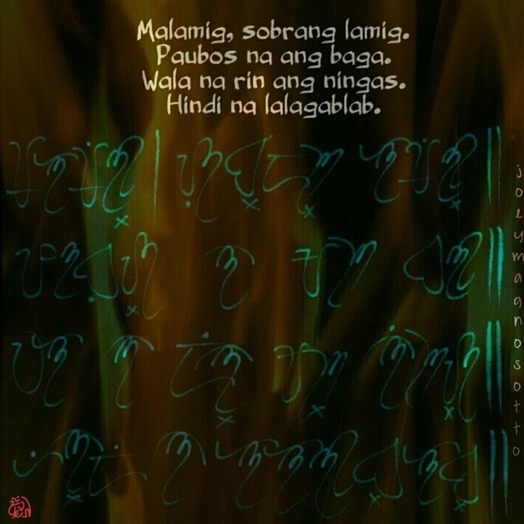 Original Tagalog Tanaga written - jmagnosotto   ello