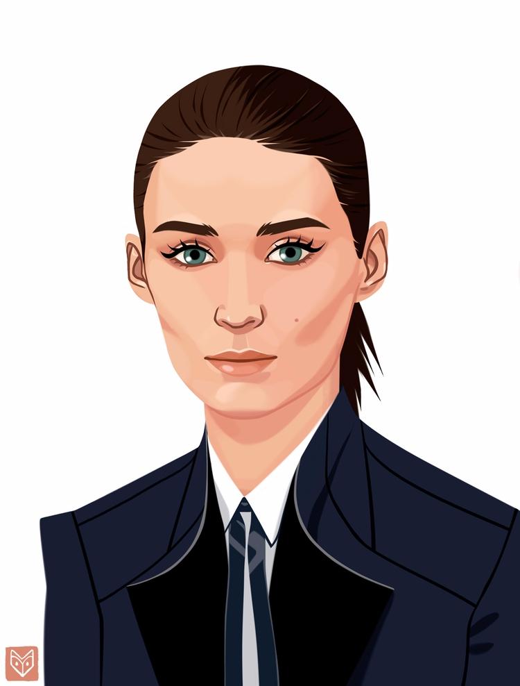 RooneyMara, actress, beauty, portrait - elinanovak | ello