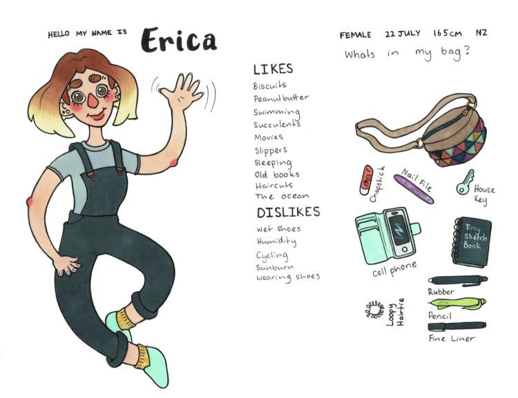 Erica. meet artist activity dra - eatsbiscuits | ello