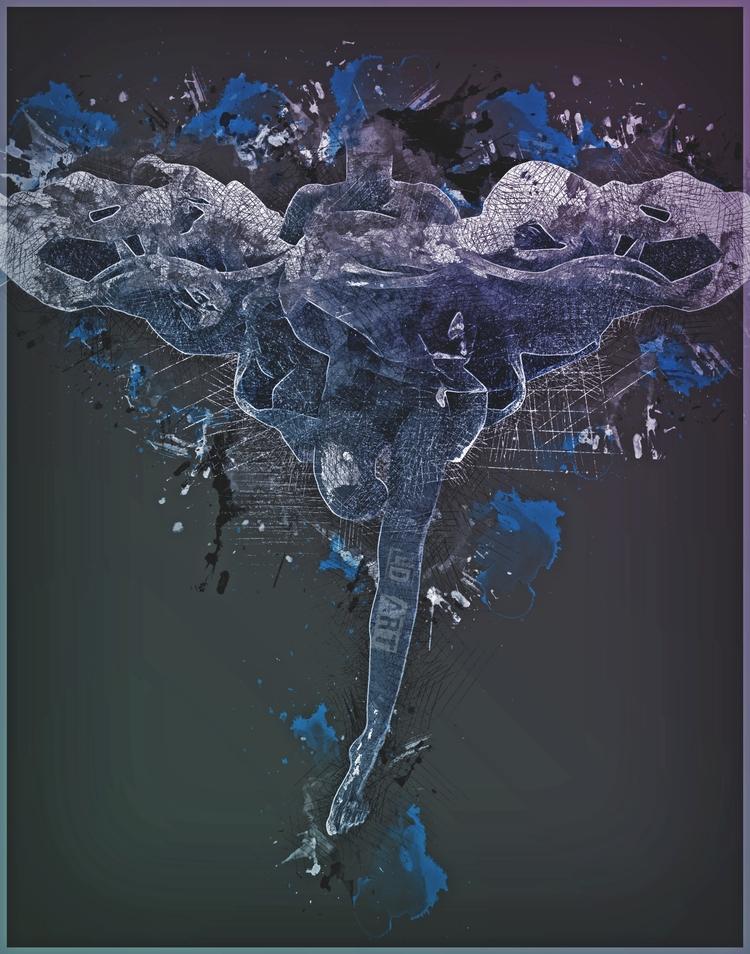 UnderWater Butterfly art websit - lucydyerart | ello