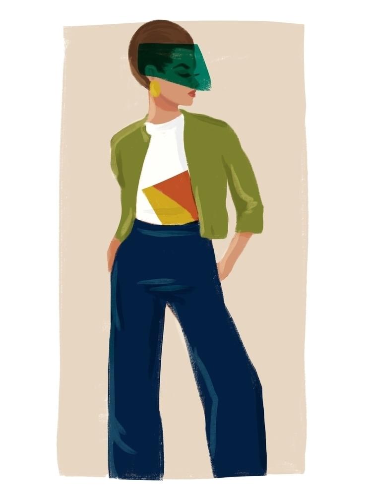 Space Lady - spaceage, illustration - cariguevara | ello